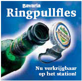 Bavaria ring pull fles  op t station