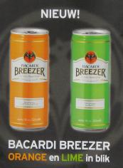 Bacardi breezer in blik